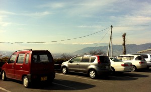 温泉場の駐車場からの風景